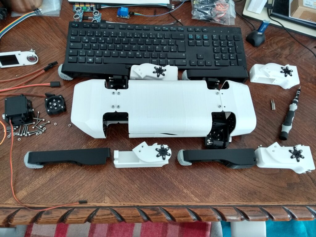 First complete prototype set of parts
